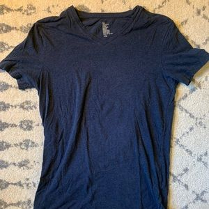 Navy Blue H&M V-Neck T-Shirt